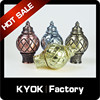 Algeria hot selling 28mm aluminum curtain finial latest window designs, curve pattern resin and glass curtain rod covers