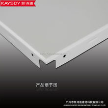 standard lay-in square aluminium ceiling pvc low side