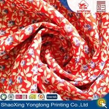 2015 hot selling chiffon fabric flower printing dress for women