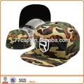 3D insignia del bordado 5 sombrero del Panel Camo encajan a presión detrás