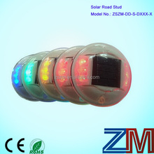 PC material round shape 6 LEDs flashing outdoor solar road spikes / road marker stud/ road stud light