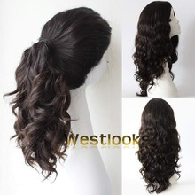 Multidirectional Top Mongolian Human Hair Jewish Ponytail Wigs Manufacturer