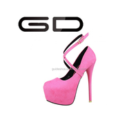 GD Europe and the United States ultra high heels and sexy nightclub waterproof platform heels for women's shoes