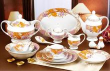 Round Shape royal decal rim Porcelain Dinnerware