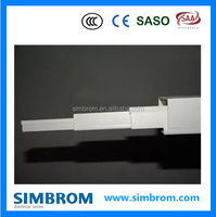 Color PVC electric cable trunking system,pvc trunking size 40mm*25mm