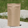 CMYK Printed with Clear Window Vinyl Zipper Pouches Paper Bag Wholesale