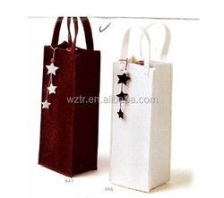 2015 new arrival custom pictures printing hot sale disposable stand up wine packaging gift tote bags