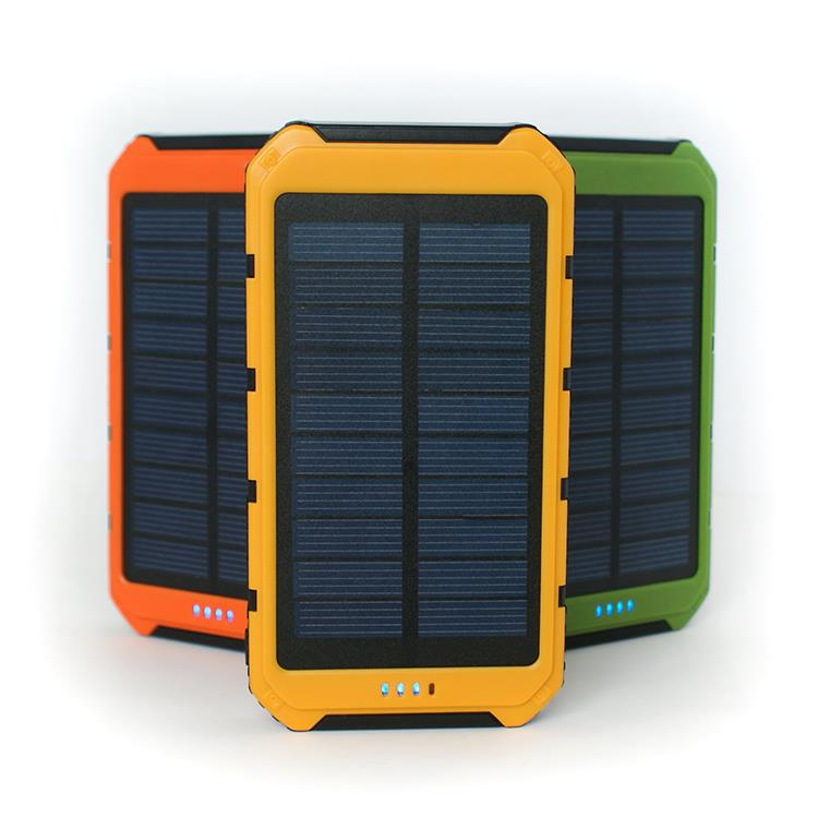 8000mAh Portable USB Charger Power Bank, Constructed with a Solar Panel for Emergency Charging for iPhone