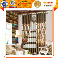 Ready-made geometric jaquard curtains for manufactured home