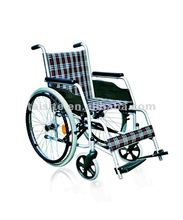 Economic chromed steel wheelchair for handicaped 4614-1