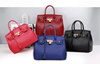 2015 Hot!! Best sale western style wholesale PU leather tote hand bags high quality fashion woman leather hand bags
