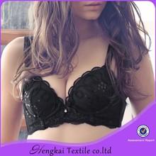 Hengkai OEM lingerie top sale pretty black hot images women sexy bra underwear