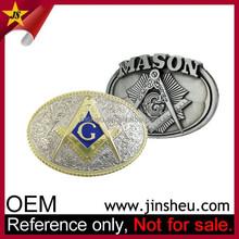 Popular Meta Custom Personalized Pattern Masonic Belt Buckles for Men