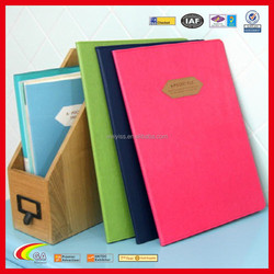 Korean Style Lovely Leahter Portfolio, Best Selling Leahter File Leather Document Folder for Cstomized