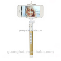 2015 new extendable camera tripod wireless bluetooth monopod selfie stick for cell phone