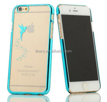 New Arrival Angel Pattern Ultra Thin Plating Border Transparent Plastic Case for iPhone 5 & 5S for iPhone 6 & 6 Plus