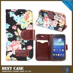 Denim wallet flip phone case for samsung galaxy ace style lte g357
