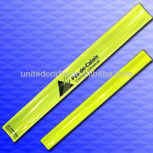 pvc reflective slap band for business promotion,event,advertising