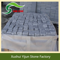 High Quality Grey Granite Cubic Paving Stone Lowes Landscape Stone Blocks