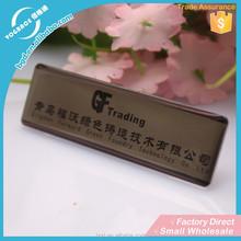 Custom metal company Logo plate, Metal Nameplate With Company Logo