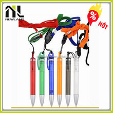 China manufacturer ball pen with cord