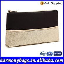 Compact sequin golden Glitter promotional cosmetic bag