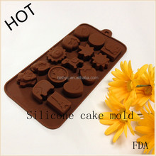 funko pop 3D heart shaped silicone nonsticky chocolatecake mould for Valentines Day