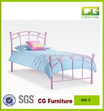 modern 2015 children used metal frame pink bed