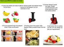 2015 newest Eco-friendly and high quality 2 in 1 vegetable Slicer and frozen fruit maker frozen dessert maker ice cream maker