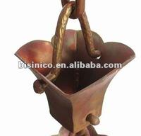 Copper Rain Chains/Hammered Copper Rain Chains/ Outdoor/Garden Ornament-B270493