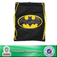 Custom Cheap Polyester Waterproof Gym Sack Small Drawstring Pouches, Laundry Bag, Backpack Bag