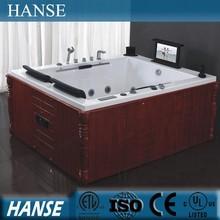 HS-B299 luxuri whirlpool free standing square directed spa bathtub