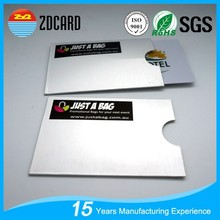 Custom id card rfid protector sleeve holder for prevent info security