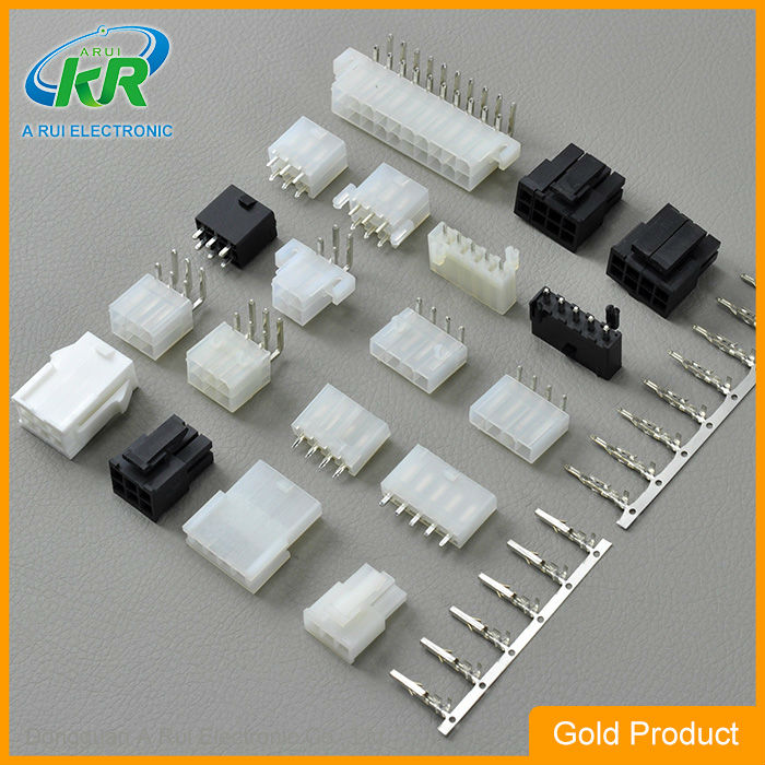 Molex 4.20mm Dual Row Angle Header With Plastic Pegs Connector 2 ...