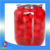 canned red cherry fruit with kernel and handle good quality