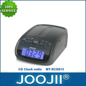 ce rohs a approuvé horloge radio portable cd mp3 lecteur usb avec chargeur usb pour la promotion