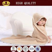 wholesale 2015 new design lovely animal round hooded baby towel