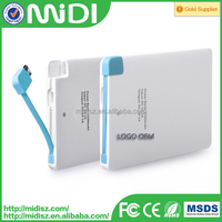 High quality battery charger usb credit card mini charger power bank supply