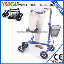 New type model steel handicapped knee walker support ultralight foldable compact knee scooter