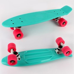 Hot selling pastel green 22'' plastic skateboard cruiser