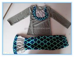 yowo children's clothing wholesale kids brand clothes winter kids clothing manufacturer grey shirt girls clothing sets