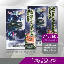 2015 Wholesale A4 High Glossy Photo Paper 230g for all inkjet printers Top Supplier Guangzhou Manufacture