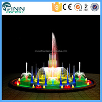 Standard Stage Music Dancing Water Fountain Fireworks