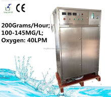 200G/H 100~145MG/L Ozone concentration Ozone generator for water treatment