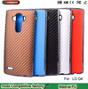Factory wholesale new plating carbon fiber case for lg g4 crazy horse pattern phone leather protective shell for g4