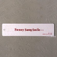 Alibaba integrity supplier for 2015 summer dress paper card swinging tag