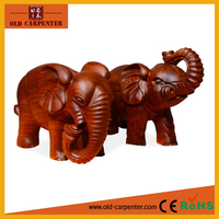 2015 hot christmas gifts Rosewood money drawing elephant wood carving wholesale art minds crafts