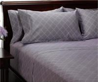 China supplier Luxurious designs 100% microfiber 4 pcs flat sheets for home , Disperse print