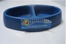 customize plastic diamond shape double pet dog food and water bowl/feeder