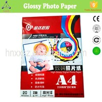 Professionl Double Side 260g Thermal A4 Adhesive High Glossy Cast Coated Photo Picture Paper